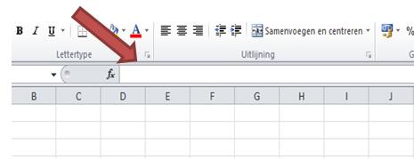 Excel formulebalk