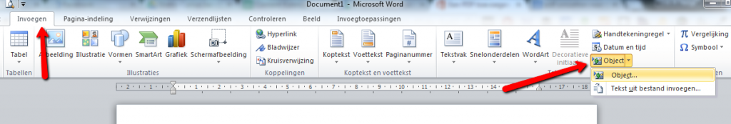 PDF Invoegen in Word