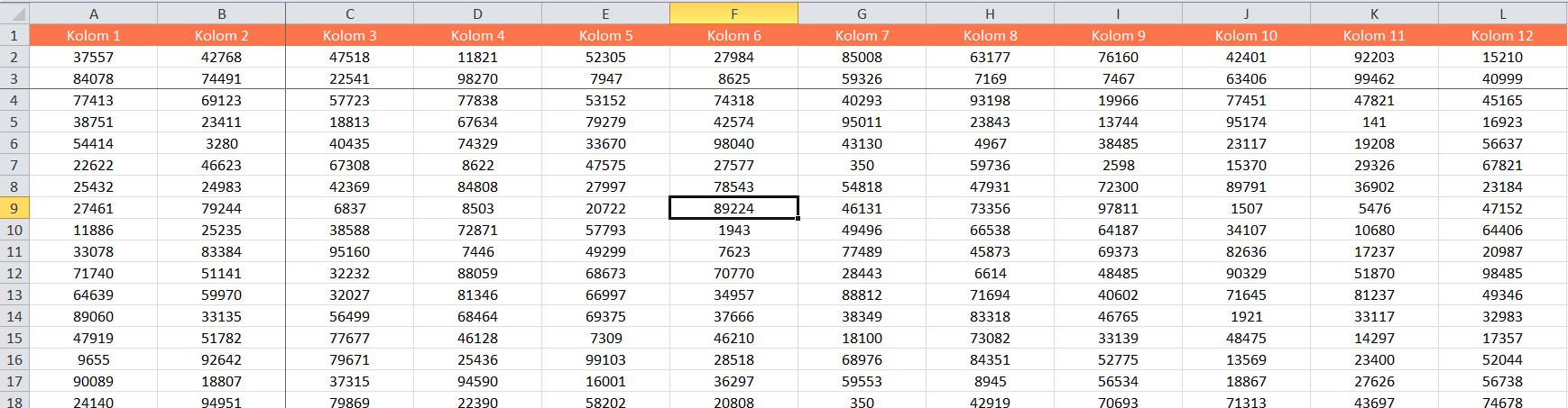 Rijen en kolommen vastzetten in Excel